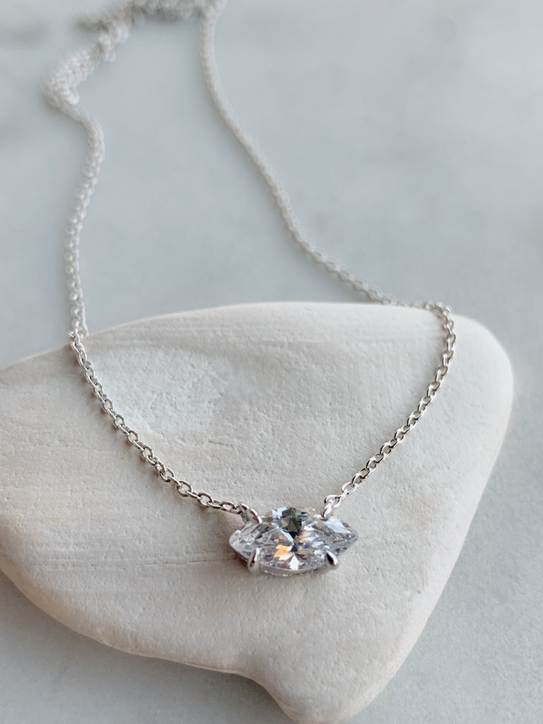 MARQUEE CHAIN NECKLACE - SILVER