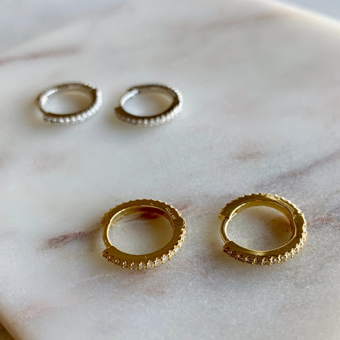 MINIMAL HOOP EARRINGS - SILVER - GOLD - ROSE GOLD