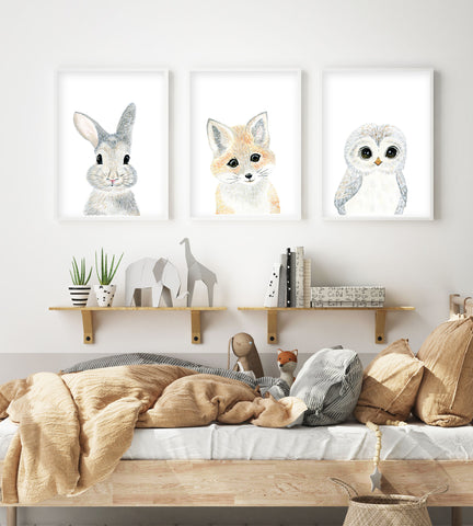 Baby Woodland Nursery Prints