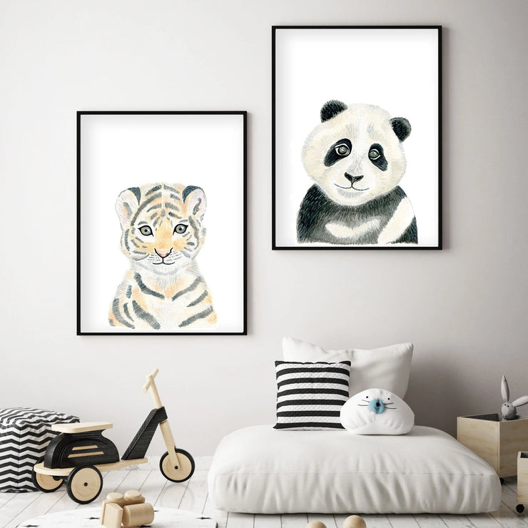 Baby Tiger - Safari Animals Nursery - The Small Art Project
