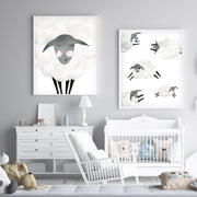 Mama & Baby Sheep - Watercolor Nursery Wall Art - The Small Art Project - Modern Nursery Prints