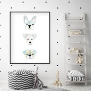 Puppy Friends - Dog Nursery Wall Art - The Small Art Project