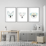 Set of 3 Dogs - Watercolor Nursery wall art - The Small Art Project
