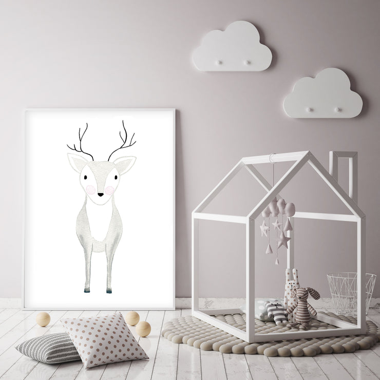 Deer Oh Dear - Woodland Nursery Wall Art - The Small Art Project