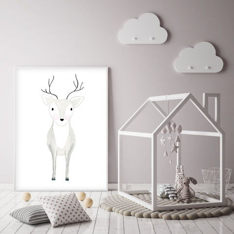 Deer Oh Dear - Woodland Nursery Wall Art - The Small Art Project - Modern Nursery Prints