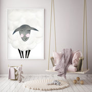 Mama Sheep - Watercolor Nursery wall art - The Small Art Project