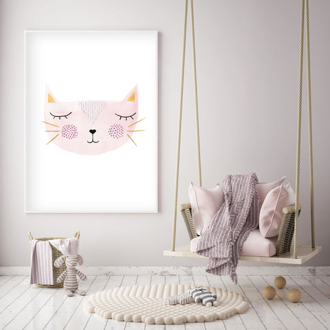 Set of 4 Kitty Cats - Nursery Wall Art - The Small Art Project
