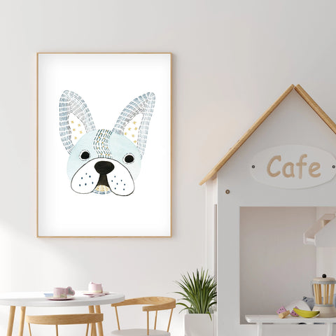 Pepe French Bulldog - Dog Nursery wall art - The Small Art Project