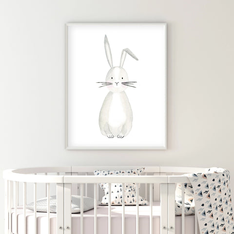 Bob the Bunny - Woodland Nursery wall art - The Small Art Project