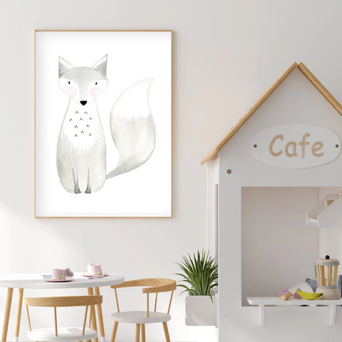 Witty the Fox- Woodland Nursery Wall Art - The Small Art Project
