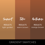 Tina Davies Sunset collection chart