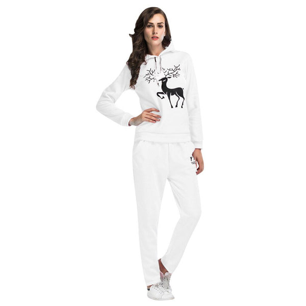 2 Piece Sport Wear Hooded Hoodie Top Pants Fitness Clothing Gym Clothes Set for Women Sportswear Sport Suit Women Tracksuit