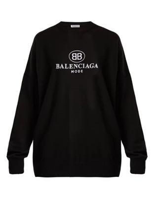 Balenciaga Logo embroidered sweater - Munazul