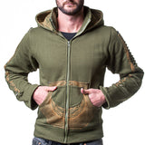 Green Moto Hoodie - All Sizes Are Here!