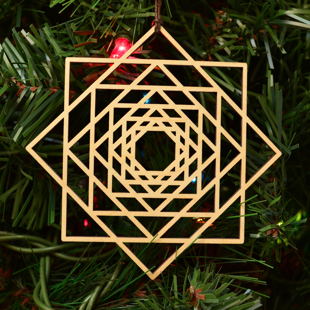 8 Sided Star Fractal Ornament