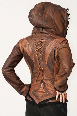this leather warmup has gorgeous festival style and zips into a fun bohemian style vest