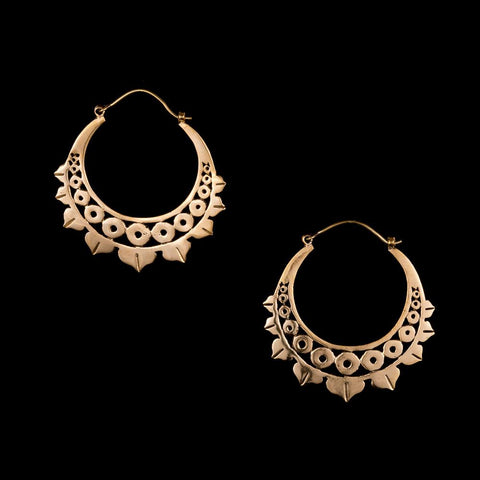 Mandala Hoop Earrings, Gypsy Jewelry