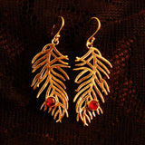 fern earrings, nature jewelry, gift for her