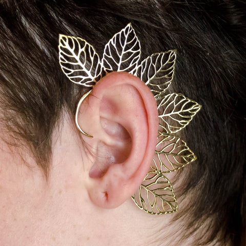 ELF EAR WRAPS, FOREST FAIRY EAR CUFF, celtic wedding jewelry