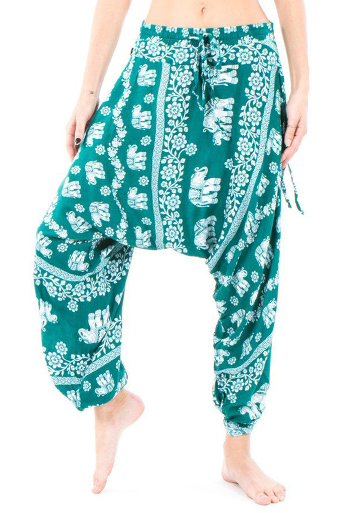 Elephant Harem Pants - green
