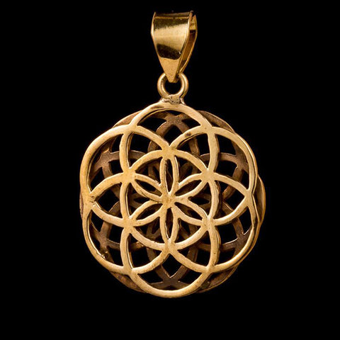 Double Seed of Life Pendant Small