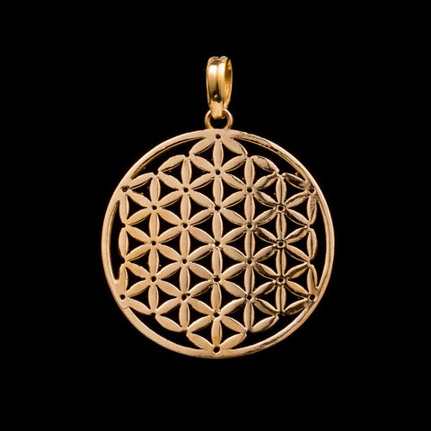 Flower of Life Pendant, Sacred geometry jewelry, yoga gifts