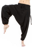 100% cotton low crotch harem dance pants for men and women