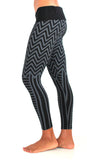 womens cotton lycra tribal style yoga tights or leggings
