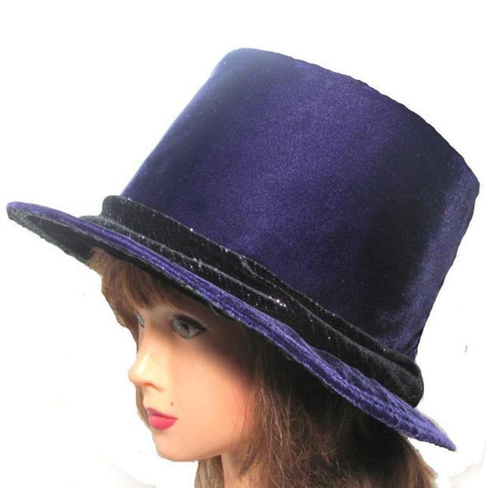 Top Hat, Purple Velvet - medium