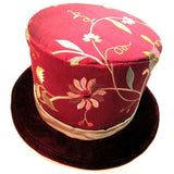 Top Hat, Red & Gold Flower - large