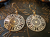 Aztec Gold Earrings