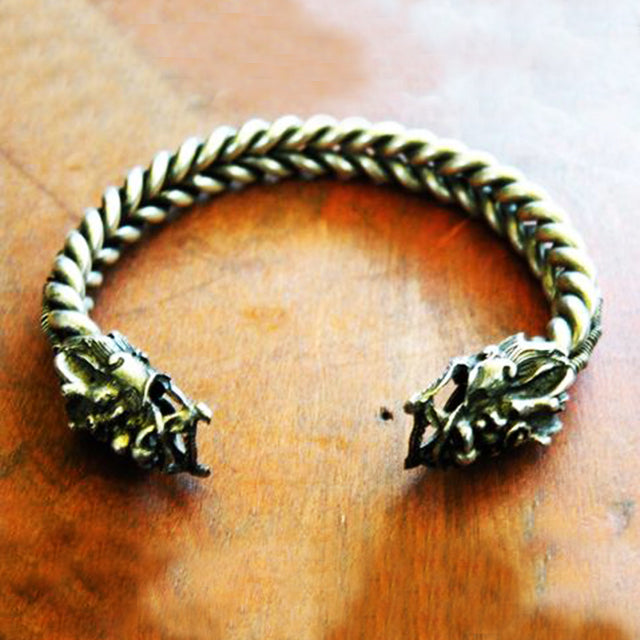 Miao Silver Dragon Bangle