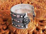 culture cross tribal style dragon cuff for festival wear