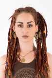 dreadlock jewelry, tribal style, brass dread beads