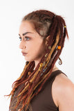 rasta tribal style, brass dread beads, sacred geometry