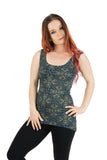 Dragonfly Tank with Gold Jewel Lotus Print
