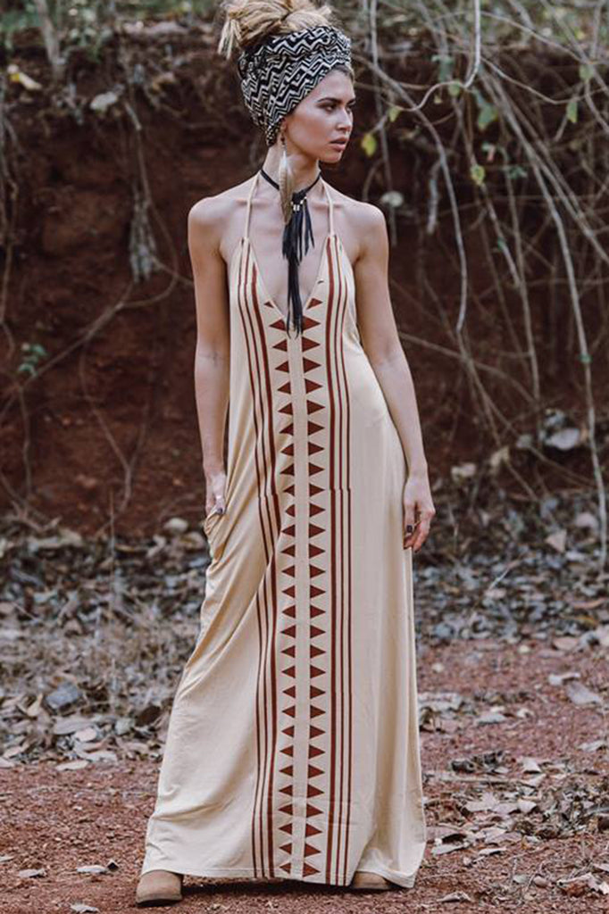Luna Maxi Dress - camel