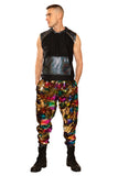 Gold Rainbow Sequined Joggers - Large only