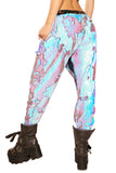 Blue Fire Sequined Joggers - Unisex