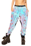 Sequined Joggers, Blue Fire  - Unisex