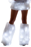 Faux Fur Light Up Legwarmers w/ White lights
