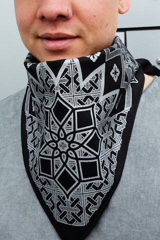 geometric series festival bandana facemask from Rythmatix