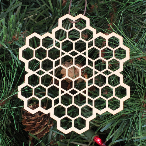 Honeycomb Fractal Holiday Ornament