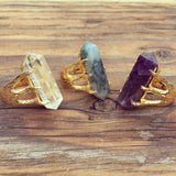 Crystal Talon Ring | Gold / Quartz | TRIBE Jewelry by Sarah Lewis