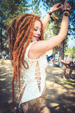 Infiniti Now cotton bohemian style Mandala Twist Vest with pleats and fine detailing, modeled by Ophelia Overdose