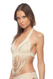 .String Studded Xavi Top