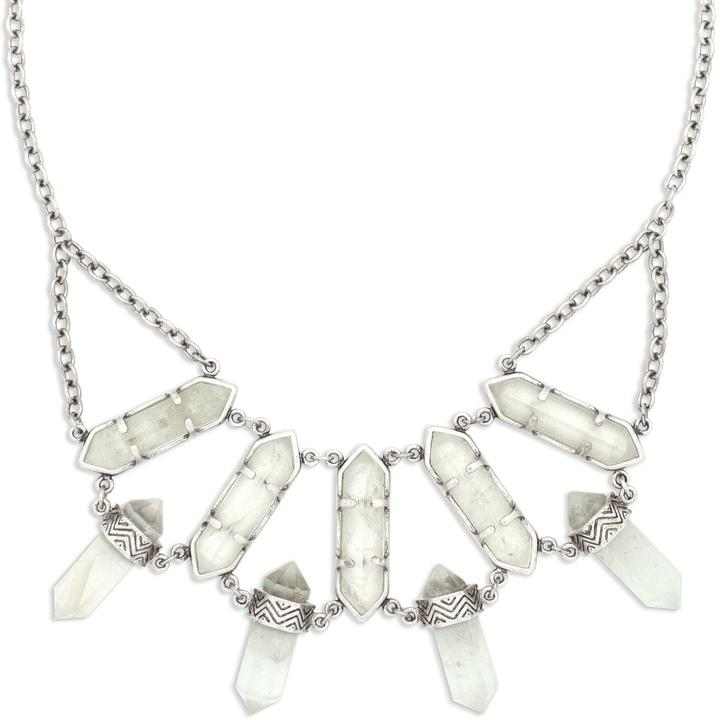 Northstar Crystal Necklace in Silver