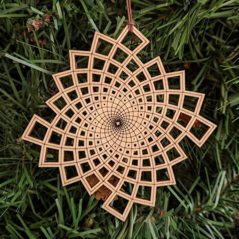 Phi Square Vortex Ornament