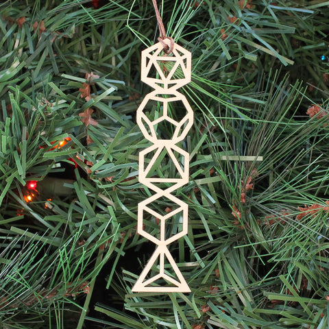 Platonic Solids Holiday Ornament