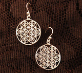 sacred geometry earrings, spiritual gifts for her